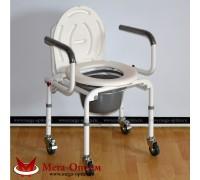 Кресло-туалет Оптим FS813 (на колесах)