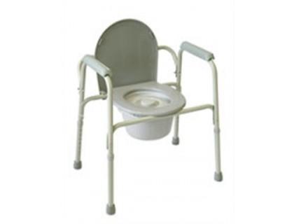 Кресло-туалет AMCB92 (6803) стальное со спинкой