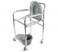 Кресло-туалет Симс WC Mobail с рег.выс.на колесах, складное