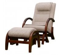 Массажное кресло-качалка EGO TWIST EG-2004 CHERRY с пуфом