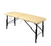 Складной деревяный массажный стол с системой тросов и изменением высоты 185х62 см (WhN185)
