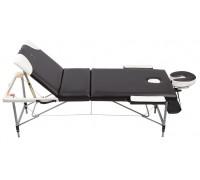 Массажный стол трёхсекционный алюминиевый Casada AL-3-16 BW