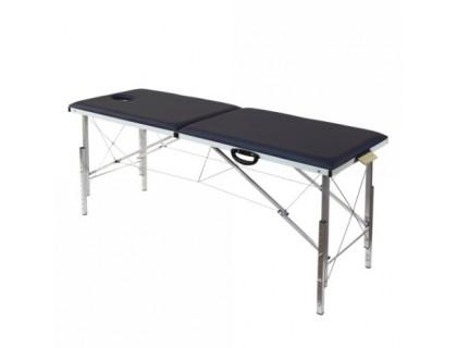 Складной массажный стол с регулировкой высоты 185х62см с системой тросов
