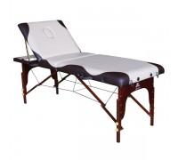 Массажный стол DFC NIRVANA, Relax Pro,  дерев. ножки, цвет бежевый с коричневым TS3022_CB