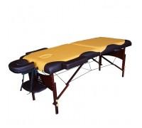 Массажный стол DFC NIRVANA, Relax, дерев. ножки, цвет горчичн. с коричневым TS20112_MB
