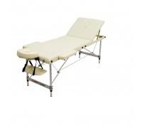 Массажный стол (15206) Comfort (MET Coinfy STANDART 03) 3-секц, ultra ligh алюминий, кремовый