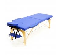 Массажный стол (15199) Comfort (MET Coinfy STANDART 02) 2-секц, дерево, синий