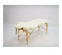 Массажный стол (15209) Comfort (MET Coinfy PROFESSIONAL 02) 2-секц, (кожзам Premium), дерево, кремовый