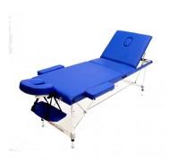 Массажный стол (15201) Comfort (MET Coinfy STANDART 03) 3-секц, дерево, синий
