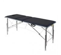 Складной трехсекционный массажный стол с регулировкой высоты 185х62см (3Th185)