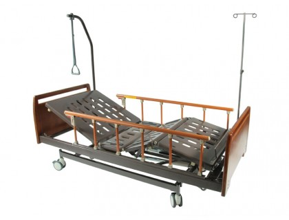 Кровать механич. Мед-Мос E-31 (ММ-3024Н-00) ЛДСП (3 функц) с ростоматом и полкой (без матраса)