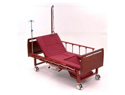 Кровать MET KARDO (15535),(ложе 196*90см) механ. кровать с функ. кардио-кресло и туал.устр (с противопролежневым матрасом)