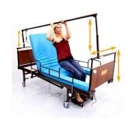 Кровать MET VAMOS (15534) (ложе198*83см) с трени-ой рамой, механич., привод (с противопролежневым матрасом)