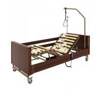 Кровать с электроприводом 1-4024М-11 (200х90 см) ЛДСП коричневый (5 функций) (без матраса)