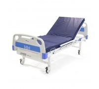 Кровать медицинская механическая Barry MB1ps (1-рычажная с матрацем, с дугой и стойкой)