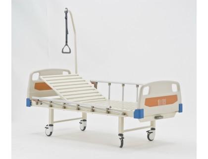 Кровать механическая Мед-Мос Е-17В (MМ-1014Н-00) (1 функц) ПЛАСТИК (с матрасом)