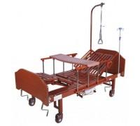 Кровать с механическим приводом Belberg 5-036ПН с туалетным устройством ЛДСП (матрас, противопролежневый матрас+столик)