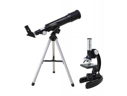 Набор Bresser National Geographic: телескоп 50/360 AZ и микроскоп 300x–1200x