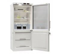 Холодильник «POZIS» ХЛ-250 с одной стеклянной тонированной и одной металлической дверью