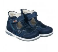 Детская профилактическая обувь TORINO темно-синий DRMD 3DA кожа