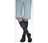 Гольфы мужские с открытым носком II класс компрессии 23-32 мм рт.ст. (цвет-черный)
