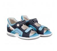 Детская ортопедическая обувь  SZAFIR синий DRMC 1CH НУБУК