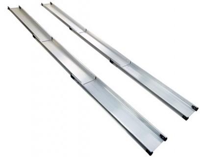 Пандус телескопический алюминиевый 3-х секционный Мега-Оптим MR107T (длина 240, 300, 330, 360 см)
