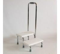 """Сиденье для ванны Титан """"IRIS"""" LY-1089-3 (ступеньки для ванны) с поручнем"""
