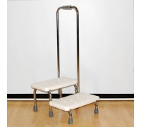 Поручень с 2-мя ступенями для ванной комнаты Мега Оптим FS569