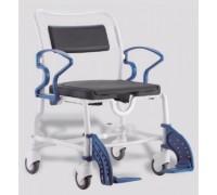 Кресло-стул с санитарным оснащением Реботек Чикаго (серый/синий)