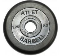 Диск обрезиненный чёрного цвета 31 мм Atlet MB-AtletB31-1,25