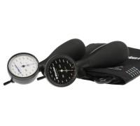 Тонометр механический (анероидный) shock-proof,черный,1 шланговый, манжета увеличенная 1250-152 R1,