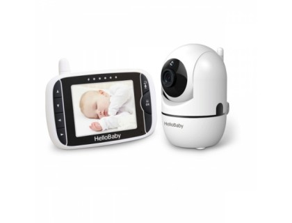 Видеоняня HelloBaby HB65 (поворотная камера, большой экран)