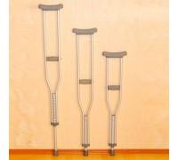 Костыли Оптим LK3010 размер (L) с УПС-затвор подмышечные алюминиевые (пара)
