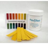 """Универсальная индикаторная бумага """"AquaTest"""" для измерения pH 1-14 (100 штук pH-полоски)"""