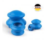 Вакуумные банки Belberg резиновые 4шт MB-02 (синие)