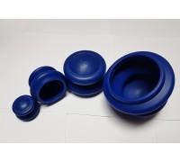 Банки для вакуумного массажа из антиаллергенной резины (4 шт/уп) ЭКО-3