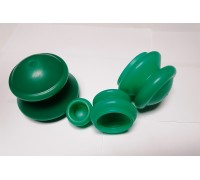 Банки для вакуумного массажа из силикона (4 шт/уп) ЭКО-5
