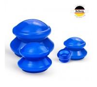 Вакуумные банки Belberg силиконовые 4шт MB-01 (синие)